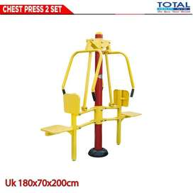Alat Fitness Chest Press 2 Seat | Total Fitness Outdoor Fitnes Taman