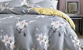 Sprei Set Bed cover Sutra Impor Mewah , berbagai motif dan ukuran