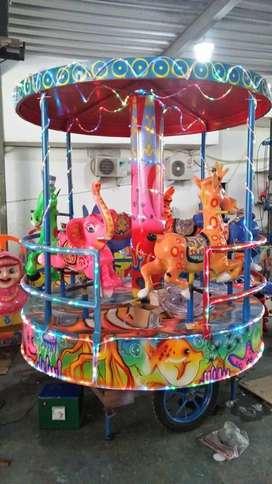 wahana mainan anak komedi putar panggung fiber DZ