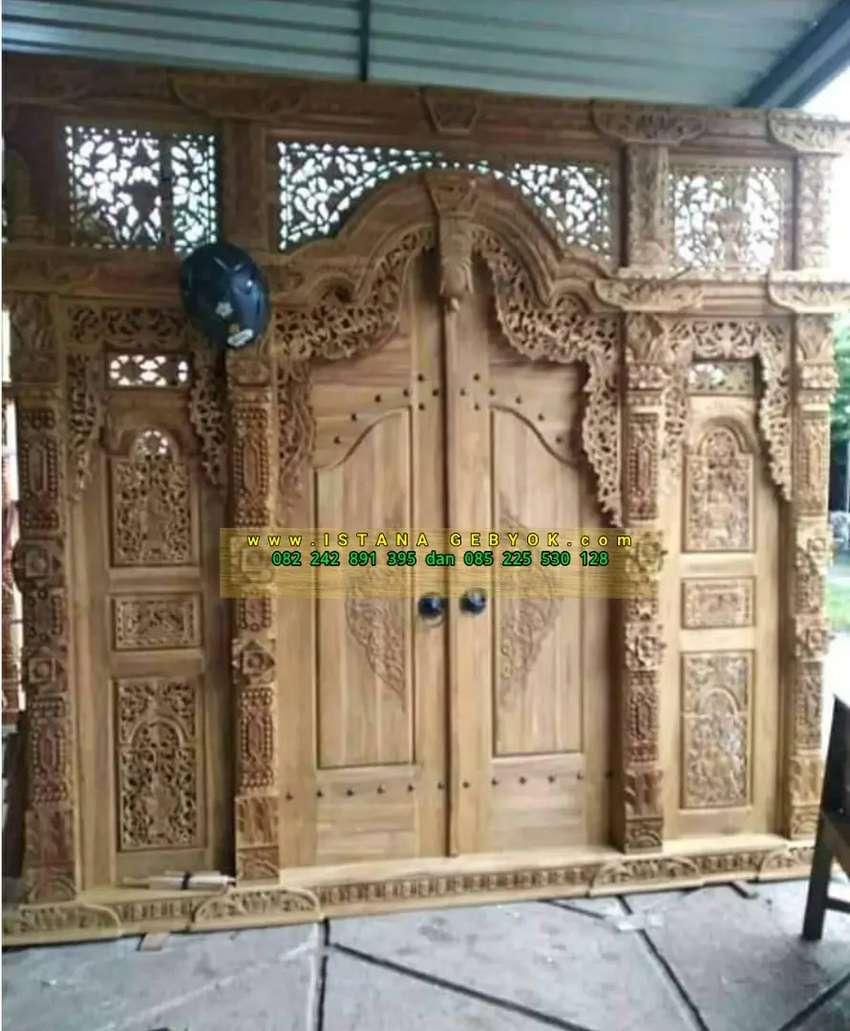 cuci gudang pintu gebyok gapuro jendela rumah masjid musholla siyah
