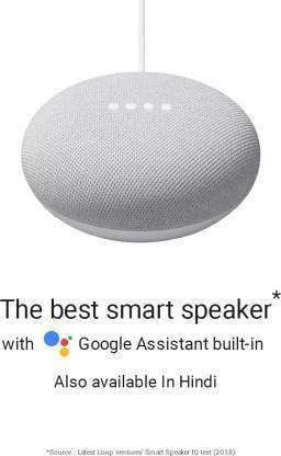 Google Nest Mini (2nd Gen)  (Chalk)