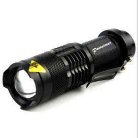 TaffLED Senter LED 2000 Lumens Waterproof Pocketman P1 - Black