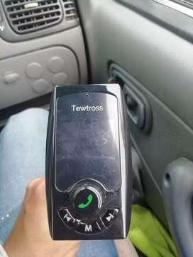 Tewtross Bluetooth FM Transmitter Hands Free Car Kit,Dual USB Charger