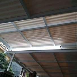 @54 canopy minimalis rangka tunggal atap alderon rs bisa bikin puas ha