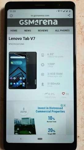 Lenovo Tab V7 (6.9 Inch, 32GB, Wifi+4G Voice calling)
