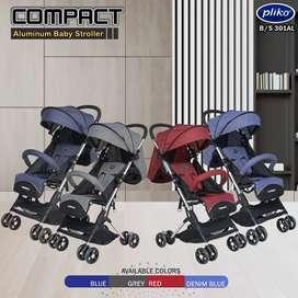 Stroller pliko bisa utk Bayi New Born, Lipatannya Sangat Kecil 950rb