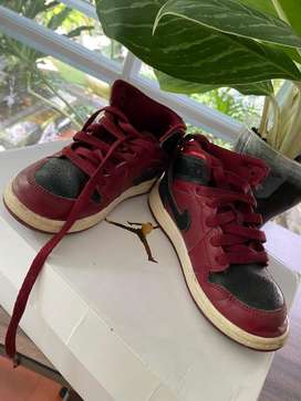Sepatu Anak Air Jordan Marron Black