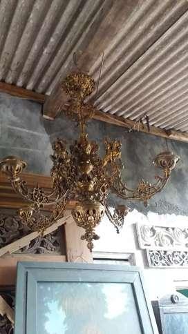 Lampu cabang 4 klasik antik