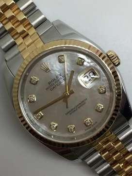 Rolex unisex MOP diamonds