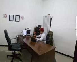 Meja Kantor Kayu Jati | Bisa Leter L