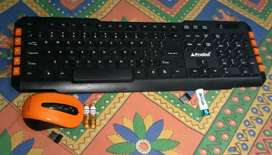 Wireless keyboad and mouse