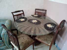 Special Wood Dinning Table with 4 chairs.