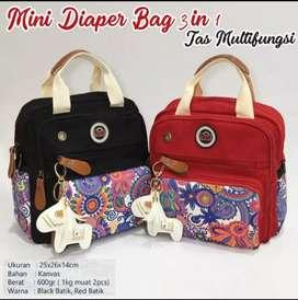 Mini Diaper Bag 3in1 Batik Series