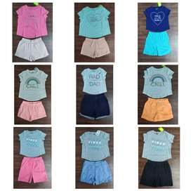 Kids Export Surplus Summer Boys and Girls Cute Fancy Style Shorts Set