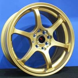 MISAKI H208 R16x7 Lubang8 GOLD - HSR Velg/Pelek Mobil Import
