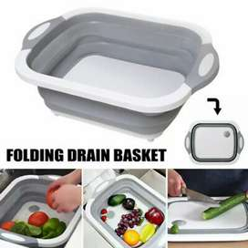 Multipurpose Dish Drainer Foldable Cutting Board