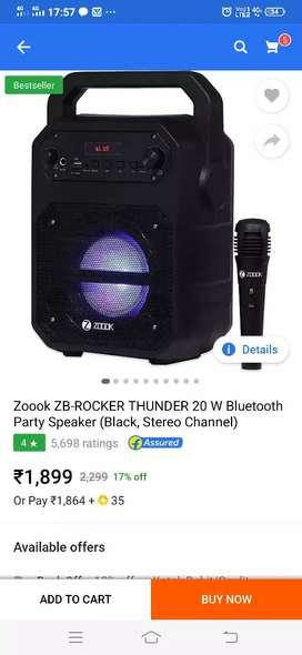 Zb thunder rocker  speaker with mike