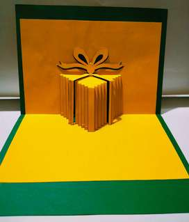 2d gift box pop up greeting card