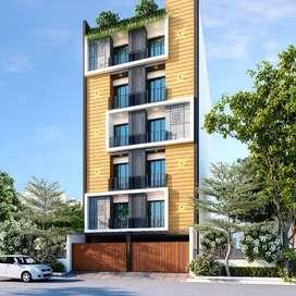 3bhk flat, satya sai marg, near kalawad road