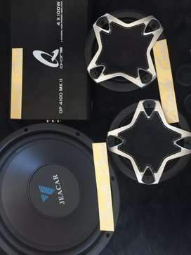Set Audio mobil jeacar, power Q1&split wolf**