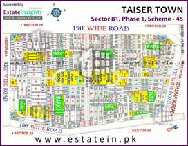 Plot for sale in Taiser town phase 1