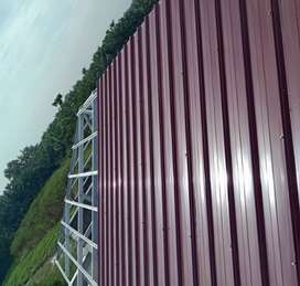 Rangka bajaringan atap spandek warna736