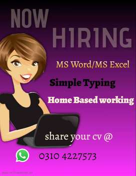 Data Entry For Females/House wife  Home Base working
