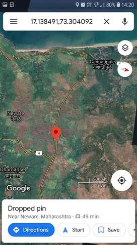 plot for sale on ganapatipule road  4km from ganapatipule mandir