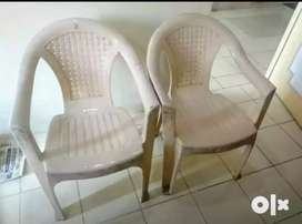 4 plastic chairs for sell . Each for 300/-