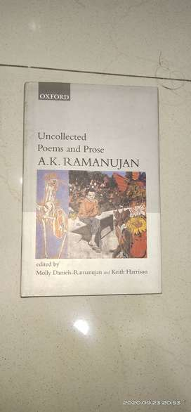 Oxford's Uncollected Poems and Prose by A.K. Ramanujan