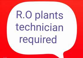 RO plant technical person required for full time