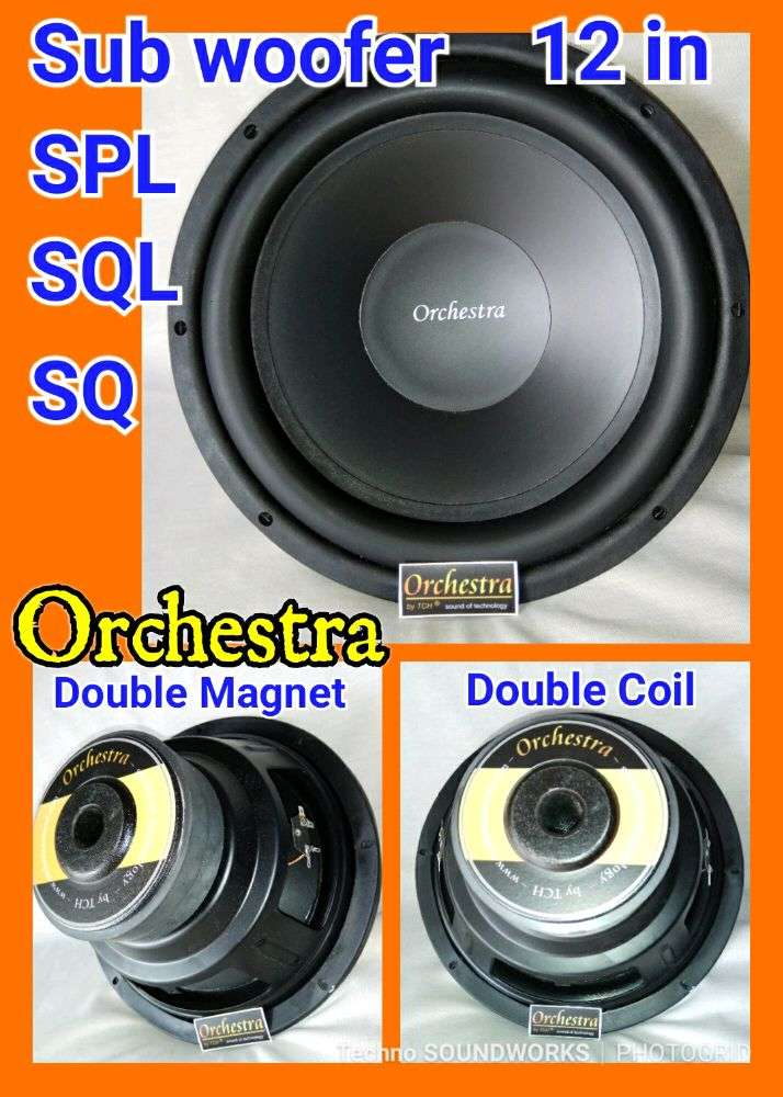 Orchestra Subwoofer bass 12 in double 2 magnet for paket sound tv 0
