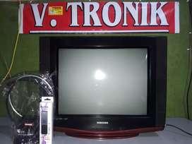 """tvsamsung slim 21"""" (bergaransi+ongkir+remote+antena)"""