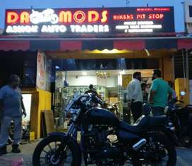Royal Enfield geniune spares and service centre.