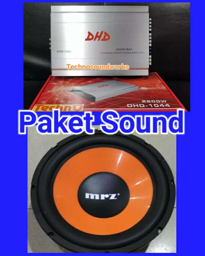 Paket audio sound power 4ch + sub 12 in for sound tv audio window film 0