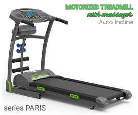 Treadmill elektrik auto incline antar dan rakit gratis