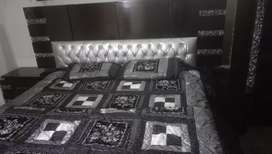 Complete bed set,cupboard,dressing
