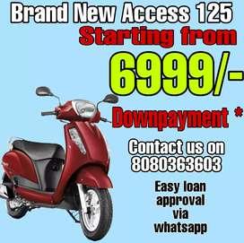 BRAND NEW ACCESS 125 BS6 SAB SE KAM DOWNPAYMENT PR