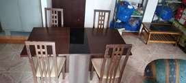 Folding dining Table + 4 chairs