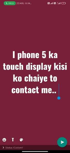 I phone 5 touch display