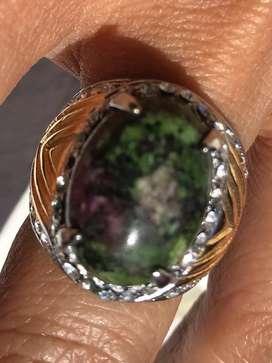 Jual cincin akik catur warna Pulaki stok lama terbatas