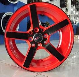 HSR Velg racing R16x7 pcd 8x100-1143 bk/red