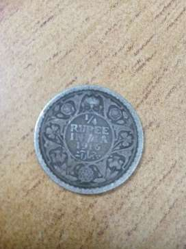 Old indian coin 1916