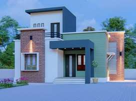 850 sqft house with 5 cent land for 23 lakhs.
