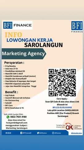 Loker BFI FINANCE SAROLANGUN Marketing Agency