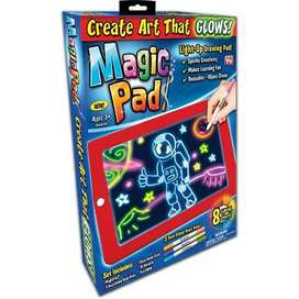 Kids 3D Magic Pad LED Writing Board Magic Board With Pen Brush