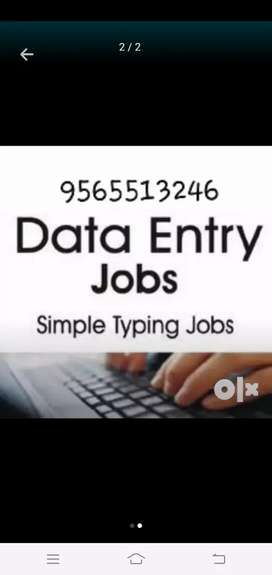 Work at your free time data typing work