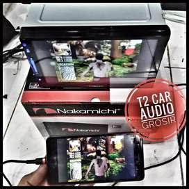 Termurah 2din nakamichi 7inc android link led 7inc+camera hd ajiib