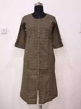 Sanganeri print cotton kurti