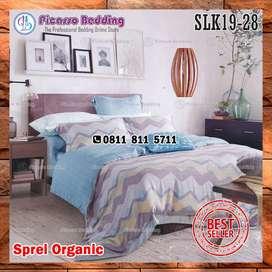 Bedcover Set Sutra Organik SLK19-28 Siap Kirim Hingga Sarolangun